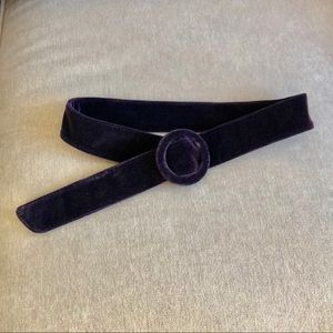 Anthropologie Purple Velvet Belt